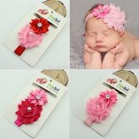 Infant Baby Girl's Headband elastic Flower hair band baby girls fotografia newborn photography props kids accessories