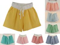 Women Plus Size High Waist Shorts Summer Breathable Cotton Linen Running Shorts Wholesale Lulu Shorts Sports Pants