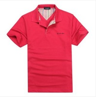 TUTS14176,New 2014 men  fashion short sleeve polo shirt good quality men 's polo shirt,have a plus size 3XL,free shipping