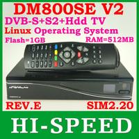 2PCS DM800HD SE V2 800se v2 HbbTV and Web browser with sim2.20 v2 TV Decoder 1GB Flash 512MB RAM free shipping