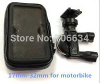 "5"" Waterproof 360 Motorcycle Bike Cycling 32mm GPS Case/Bag+Mount Holder for GPS Smartphone Samsung NOTE2/N7100 S4 S3 IPHONE"