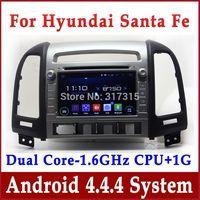 Android 4.4 Car DVD Player for Hyundai Santa Fe 2006 2007 2008 2009 2010 2011 2012 w/ GPS Navigation Radio TV BT USB AUX 3G WIFI