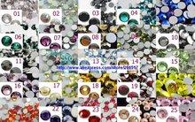 Super brilho de cristal pedrinhas para Nail Art 5760 pcs ss30 6.3 – 6.5 mm 20 cores 40 Gross Nail Art pedrinhas strass diy
