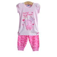 2014 New  Girls peppa pig suits clothing sets  4sets / lot peppa pig clothing set peppa suit girl  In stock