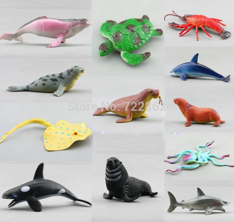 Shark Toy Set : Free shipping pieces set marine animal model toys