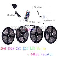 20M/lot RGB SMD3528 60leds/m LED tape DC12V non waterproof LED flexible strip light