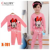 Girls Frozen Sisters Pajamas Sets Kids Autumn -Summer Clothing Set New 2014 Wholesale Children Cartoon 2-7Y Pyjamas X-574 3D