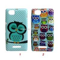 Cartoon Cute shy Owl Bird soft tpu cover case For Sony Xperia M  case Xperia M  cover C1905 C1904 C2004 C2005