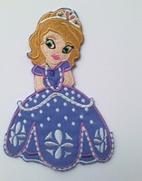 Little princess sofia the first Iron On Patches  USA cartoon Appliques embroidered patch girl kids accessory wholesale100pcs/lot