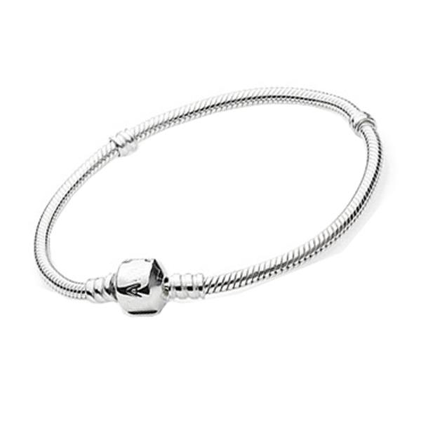 925 sterling silber schlangenkette schraube armbänder passend für european beads charms18-24cm Länge