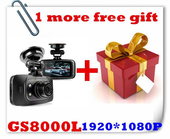 "1Pcs Free Gift+GS8000L Car DVR 720P Novatek+Glass Lens +1280*720P+2.7""+HD+ 4 IR Lights+Wide Angle 140 Degrees+Car Camera GS8000(China (Mainland))"