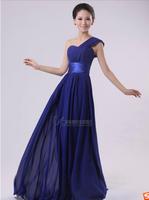 2014 women's new fashion wedding dress long paragraph Slim oblique shoulder bride dress bridesmaid dress party dress