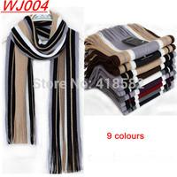 WJ004-2015 winter Warm Scarves cotton Cashmere Scarf  9 colours stripe free shipping