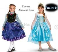 2014 Frozen Elsa Anna Princess summer long sleeve dress/ christening / Birthday dresses