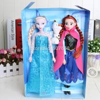 1set Frozen Figure Set Elsa&anna with snowman  Classic Toys Frozen Toys Dolls 33cm