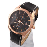 1pcs Fashion Wristwatches Men Sports Watches PU Leather Quartz Watch Analog New Dropship
