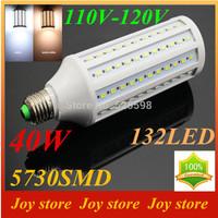 40W,5730 SMD,LED Lamps Bulb,E27 B22 E14,110V,120V,Cold White/Warm white,132 LED,Corn Light Bulb,Ultra bright spot lights