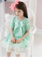 retail 2014 new arrival summer girl dress fashion cute Korean lace princess children dress children clothing free shipping  C285