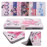 Retro Gyrosigma Printing U.S. FlagButterfly Peony PU Leather Case  For iPad mini/mini with Retina Display Protection Cases