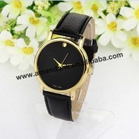 100pcs/lot 2014 new Men's leather quartz watches, top brand woman luxury fashion wristwatch designer casual leather dress watch
