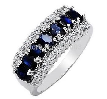Женщины Men Sapphire Белый Золото Filled Ring Lady's 10KT Finger Rings 2014 Модный ...