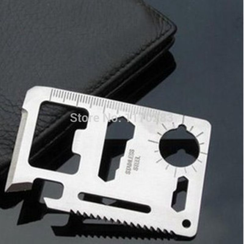1PCS Stainless Steel Multifunctional Travel Credit Ca