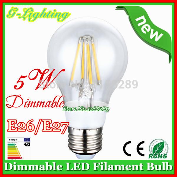 Free shipping 40 pcs/lot dimmable hot sell 2W 4W 5W led bulb lamp led filament bulb 360 degree led bulb e26 e27 led light bulb(China (Mainland))
