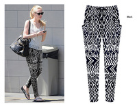 2014 summer big yards in Europe and the loose feet pants printing harlan tidal height pants