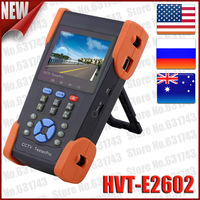 """3.5"""" TFT-LCD Security CCTV Tester Pro For Ru With Wire Tracker PTZ Control UTP Cable Test IP Address Scan PoE Test 2014 Hot 2602"""