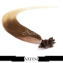 "Neitsi Ombre Pre Bonded Nail U Tip Keratin Hair Extensions T8-22# 1g/s 50g 100g 20"" 50cm Brazilian Straight Mega Remy Human Hair(China (Mainland))"