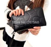 Free shipping!Fashionable PU leather rock grain lady hand bags, zipper long wallet, mobile wallets