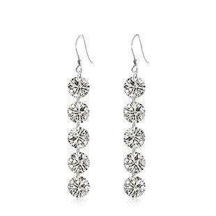 Silv бренда горячая распродажа мода дамы падение серьги 925 серебряных серег стерлингового серебра ювелирные изделия! 5 шт. CZ серьги