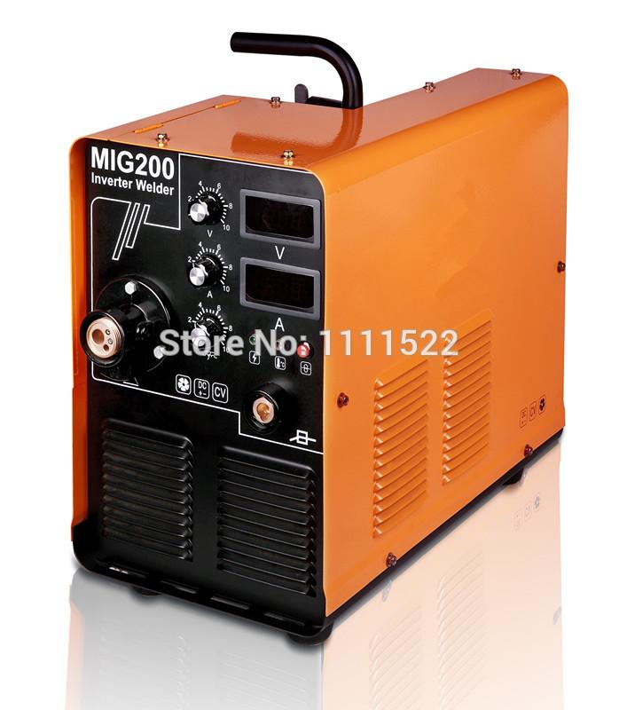 JASIC RILAND HYLONG MIG200 MAG200 MIG207 MIG207D SINGLE FUNCTION(MIG) IGBT 220V +MIG GUN+GROUND WIRE+GAS METER FREE SHIPPING(China (Mainland))