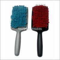 Antimicrobial Micro Fiber Dry Brush Paddle Hair Brush GIC-HB525 Free Shipping