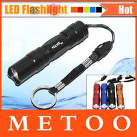 High Quality Ultra Bright Mini Aluminum Handy Flashlight Waterproof Torch Portable Cree Q5 Chip Lighting Foxanon Brand 1pcs/LOT
