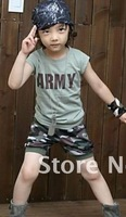 Retail 1 set  Summer  Free shipping boy girl baby sets suits  in stock Promotion Fast delivery