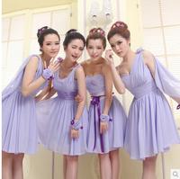 bridesmaid dress 2014 summer new fashion women's was thin short paragraph dress 3 colors 4 styles