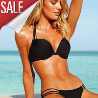 New 2014 hot women vs swimwear print bikinis set push up bikini for women swimsuit woman bathing suit piece swimsuits wholesale