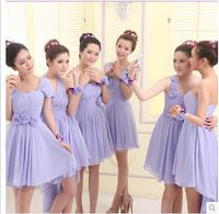 wedding dress  2014 new women's fashion purple bridesmaid dress short paragraph girlfriends sisters dresses