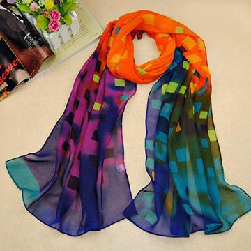 Women fashion 2015 New women Plaid silk scarves polka velvet scarf chiffon Bohemia Scarf Warm female shawl Christmas gift(China (Mainland))