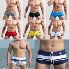 New 2014 Mens Swimwear Swimming trunks Sexy Slim Men Swimsuit boxer bathing wear for Swimwear briefs man beach Shorts sunga XXL(China (Mainland))