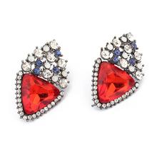 European and American fashion women beautiful atmosphere triangle earrings
