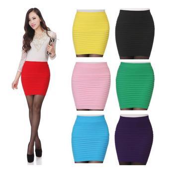 2015 горячая распродажа большой размер тонкий прохладный материал конфеты цвет Saias Femininas тонкий хип Saia юбка карандаш юбки Bodycon мини юбка