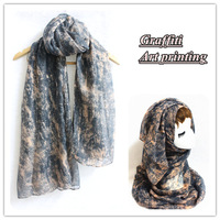 Fashion Graffiti printing shawl romantic feeling soft and unique design lovely hijab for women muslim scarves