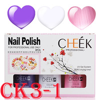 3 Color gel set Best quality Soak off nail polish Long-lasting Nail Art  shellac