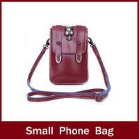 2014 candy color mini mobile phone bag small bag trend messenger bag coin purse women's handbag