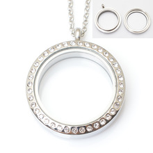 30mm stainless steel Twist floating locket with rhinestones, FN2001(China (Mainland))