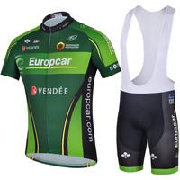 short sleeves Cycling wear suit Bike team clothing bicycle kit jersey jacket+bib shorts riding sportswear EU002