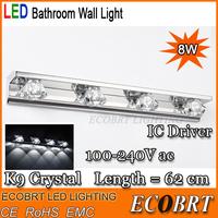 2014 Ccc Rohs Lvd Emc Ce Festoon New Modern 8w 5730 Led Bathroom Lighting Lamps crystal Wall Light In bedroom 100-240v AC