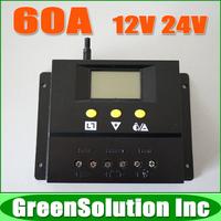 New Arrival !! 60A 12V 24V Auto Solar Controller Regulator, Solar Battery Panel Charge Controller 60Amp Solar Charge Controller